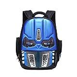 Alipher School Backpack Waterproof Kids Backpack Comic School Bag Student Bookbag Transformers Small Size Blue