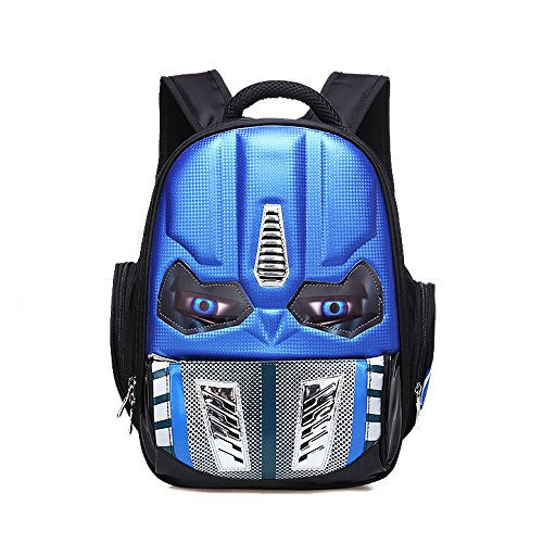 Alipher School Backpack Waterproof Kids Backpack Comic School Bag Student Bookbag Transformers Small Size Blue