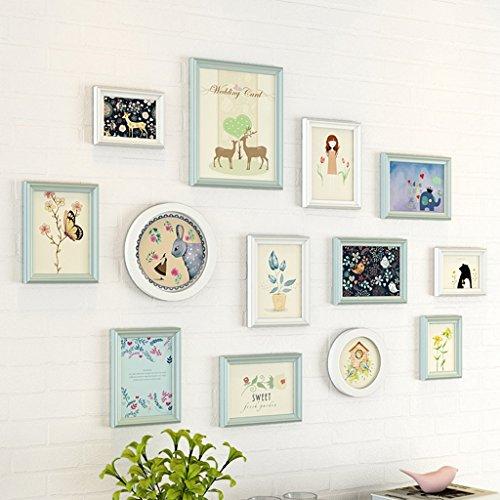GAO JI FENG - PW Mur de photo moderne, mur de cadre de style européen, chambre à coucher créative de chambre d'enfants, mur de combinaison de mur