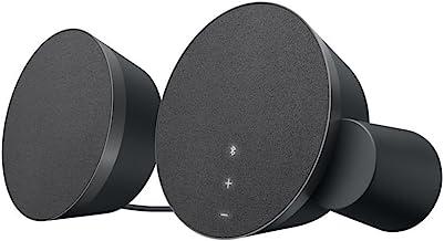 Logitech MX Sound 2.0 بلندگوی استریو چند دستگاه با صوتی دیجیتال حق بیمه برای کامپیوترهای رومیزی، لپ تاپ ها و بلوتوث فعال شده است