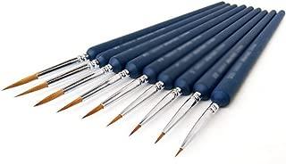 Scrox 10 unids Detalle Pinceles Conjunto Artista Pinceles Pintura Manualidades Miniatura para Pinturas Arte Cepillo Fino para Pintar para Pintura Punto Acrílica de Acuarela al Oleo