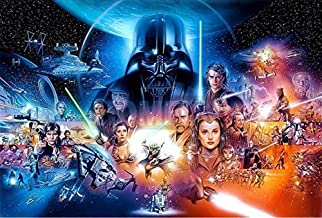 Star Wars Poster Full Drill Diamond Painting by Number Kits, 5D DIY Diamond Embroidery Crystal Rhinestone Cross Stitch Handmade Mosaic Paintings Arts Craft for Home Wall Decor (20X16inch/50X40cm)