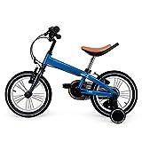 Hanbei 14 Pulgadas Bicicleta Infantil para niños y niñas, neumáticos de Caucho Inflable del Asiento y Manillar Ajustable, Bicicleta con Pedales, Ruedas de Entrenamiento.