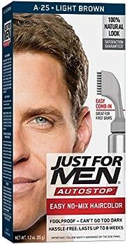 Just For Men AutoStop Men's Light Brown Hair Color (1.2 ounce)