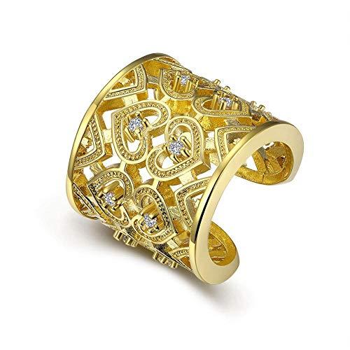 Yarmy Open koperen ring hol galvanisch anti-allergie-ring stuurt je familie en vrienden verjaardagscadeau aan je geliefde, vakantiegeschenk