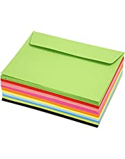 Kolorowe koperty, C6, 11,5 x 16 cm, 80 g, 100 sztuk