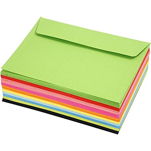 Farbige Briefumschläge, C6, 11,5 x 16 cm, 80 g, 100 Stück