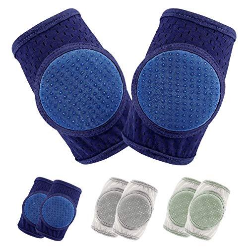 Rodilleras para gatear,rodillera bebe gateo rodillera para bebés gatear protector ajustable para bebé pequeños, 3 pares