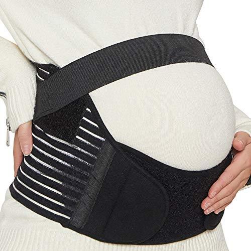 Cinturón de maternidad - Apoyo durante el embarazo - banda para abdomen / cintura / espalda, faja de premamá para el vientre - Marca Neotech Care (Negro, M)