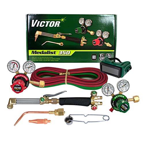 Victor Technologies 0384-2691 Medalist 350 System Heavy Duty Cutting System, Acetylene Gas Service, G350-15-300 Fuel Gas Regulator