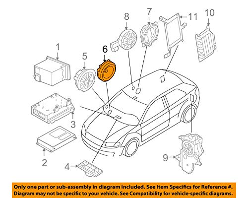 ORIGINAL AUDI Lautsprecher Mittel-/Tiefton Türen A3 (8P) vorne 8P0035411C