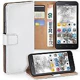 MoEx Premium Book-Hülle Handytasche kompatibel mit Huawei Y625 | Handyhülle mit Kartenfach & Ständer - 360 Grad Schutz Handy Tasche, Weiß