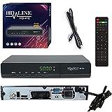 HD-LINE 410 Sat Receiver - Satelliten Digitaler Receiver- DVB-S / DVB-S2 - Full HD 1080p Digital Satellit für TV (HDTV, HDMI , USB ,Scart) +HDMI Kabel [Vorprogrammiert für Astra,Hotbird und Türksat]
