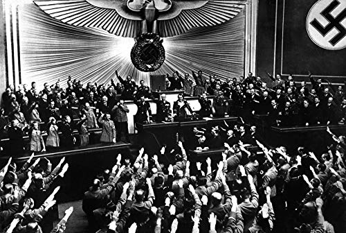 Hitler Accepts The Ovation of The Reichstag After The Annexation of Austria. Berlin Poster Print (91,44 x 60,96 cm)