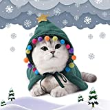 Dog Cat Pet Costume Outfits Santa Christmas Hat Scarf and Collar Bow Tie Head Wear Accesories for Puppy Kitten Cats and Dogs