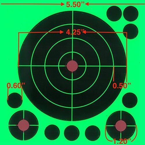 """Lot de 100-7/"""" Reactive éclaboussures cibles-glowshot-multi couleur-voir votre H...."""