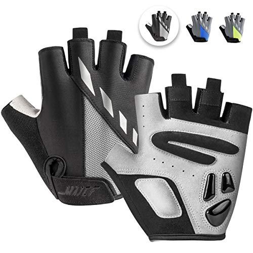 MAJCF Cycling Gloves Men Bicycle Gloves Half Finger 5MM Gel Pad...