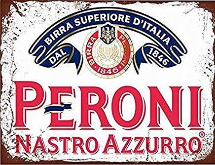 Peroni Nastro Azzurro Lager Bier Vintage Metall Blechschild für Home Decor 20,3 x 30,5 cm