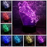 Acrílico Ilusión 3D 7 Colores USB Charge RGB Juego de Batalla Prop Gun Led Bedside Night Mood Light Día del niño Diversión Regalo Juguete