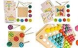 MABY - Juego de Madera Educativo para Niños, Juguete Montessori 3 años,...