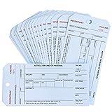 Juvale - Confezione da 500 etichette per inventario, in carta Manila bianca, 15,2 x 7,6 cm