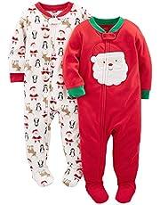 Simple Joys by Carter's Pijama de Forro Polar de Ajuste Holgado para Vacaciones Unisex bebé, Pack de 2