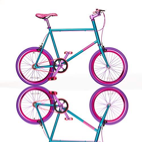 Fydelity MIXIE Mixed Gear Fixie Straightedge Vélo – Vice Gear/Flip Flop Hub/Coloré/Hip Hop Bicycle/BMX/Petites Roues/Compactes/Pliables/Style