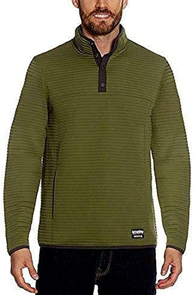 Gerry Mens Zip Ottoman Pullover (3XL, Olive Green)
