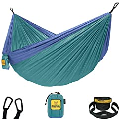 UNLIKE OTHER HAMMOCKS ours are made of high quality heavy duty 210T parachute nylon. This extra soft yet super strong material gives you the most comfortable and relaxing experience ever. 100% SATISFACTION GUARANTEE - So you don't have to wonder if y...