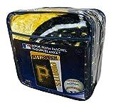 Northwest MLB Pittsburgh Pirates Logo Strike Raschel Plush 60 x 80 inch Twin Size Throw Blanket