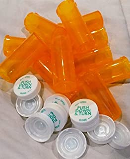 Plastic Prescription Vials/Bottles 25 Pack w/Caps 8 Dram Size