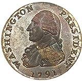 Bespoke Souvenirs Recuerdos a Medida RARA Antiguo Estados Unidos Estados Unidos Washington Presidente 1791 Año Baker 15 Águila Pequeña Gran Una Cent Moneda
