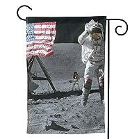 宇宙飛行士の月面着陸 のぼり旗 ガーデンフラッグ 両面 防風 サイン 休日を祝う 美しい 庭の装飾 アンティークの冬 ガーデンバナー ファッション 屋外装飾 贈り物
