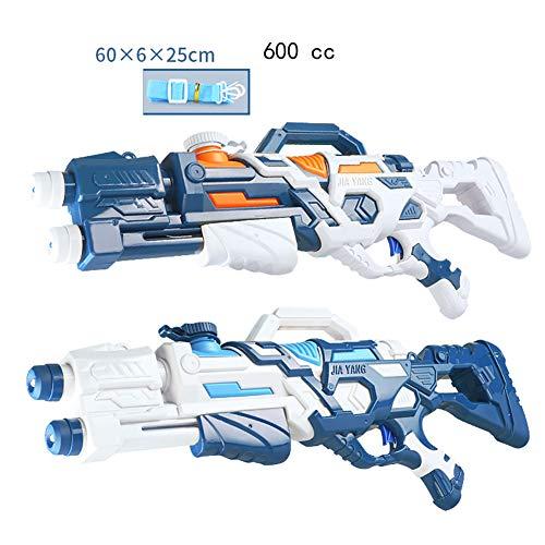 HPYR Pistola de Agua para niños-2 Pack Pistola de Agua 600 ml, Campo de Tiro de 19-26 pies, para Juguetes de Agua de Verano para niños y Adultos-Skyblue