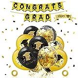 Globos de Graduación,30 piezas Fiesta de graduación Globos,pancartas de graduación,Globos de Látex,para Suministros...