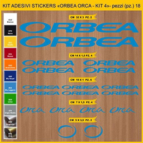 Adesivi Bici ORBEA Orca- Kit 4 - Kit Adesivi Stickers 18 Pezzi -Scegli SUBITO Colore- Bike Cycle pegatina cod.0933 (053 Blu Leggero)