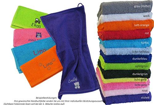 Premium Qualität Kinder-Handtuch (Gästehandtuch) 30x50cm mit Namen & Motiv Bestickt (30x50cn (Gästehandtuch))