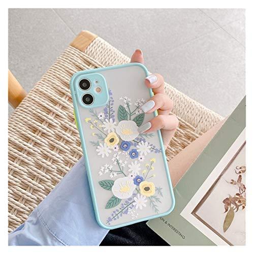 YLFC Funda con Diseño De Flores para iPhone, Funda Gruesa De Color Lujoso, para iPhone 12 11 Pro MAX 7 8 Plus X XR XS MAX SE 2020 (Color : 1, Size : For iPhone X)