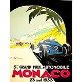 Wee Blue Coo Sport Advert Motor Race Grand Prix Monaco