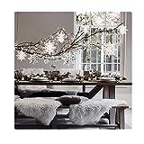 Fellibay Weihnachts-Fensterdekoration, Weihnachts-Schneeflocke, Fensterdekoration, Papierfächer, Winter-Party, zum Aufhängen, 6 Stück, perlweiß, 20 cm