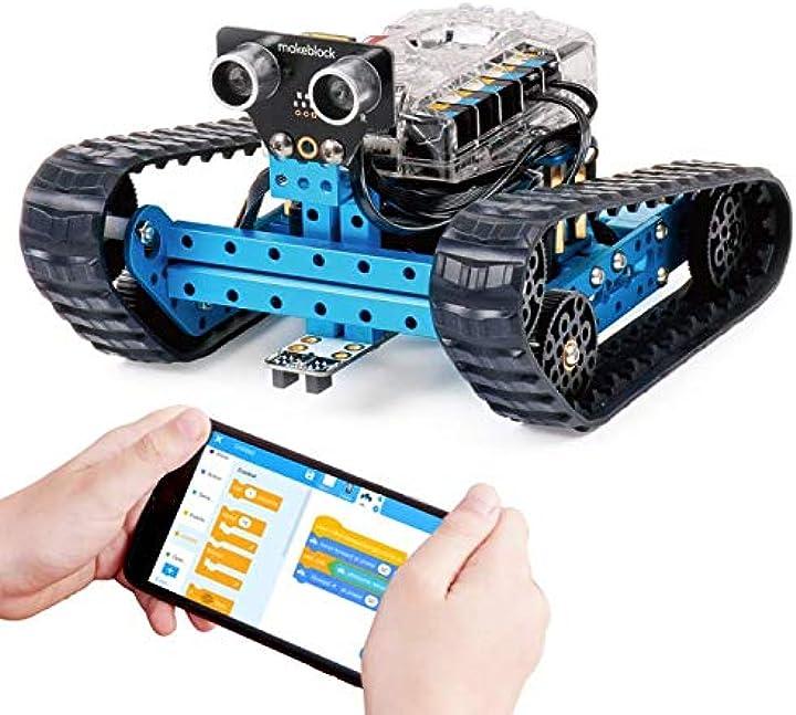 Robot bambino educativo 3-in-1, tre moduli, versione bluetooth, blu, steam education  makeblock mbot ranger B07KG4JHBH