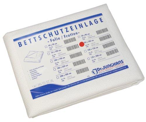 Dr. Junghans Medical 10215 Matratzen-/Nässeschutz Bettschutzeinlage, Folie/Frottee, 90 x 100 cm