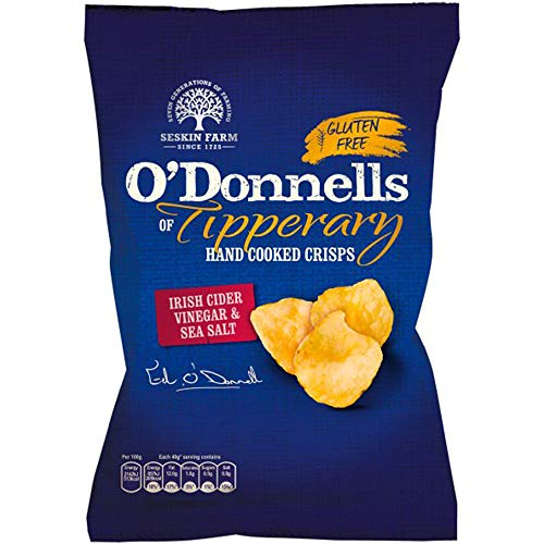 O'Donnell's Irish Cider Vinegar & Sea Salt Crisps 12 x 125g