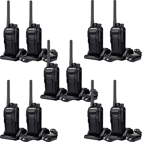 Retevis RT27 Walkie Talkies Long Range,Rechargeable 2 Way Radios, Business Two Way Radio,VOX USB Charger Military Standard,Commercial Construction Warehouse(10 Pack)