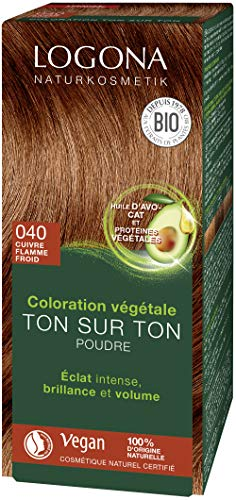 LOGONA, Soin colorant 040 cuivre flamme froid, 100 g