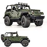 Verdadera representación Wrangler 1: 8 Fuera del camino Camioneta Técnica MOC Conjunto de bloques de construcción, Modelo coleccionable para adultos, juguete de ingeniería de camiones (2100+pcs)