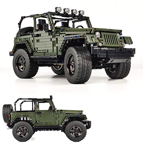 OneNext Wahre Darstellung Wrangler 1: 8 Offroad-Pickup-Auto MOC-Technik Bausteine gesetzt, Bauprojekt für Erwachsene Sammlermodell, Truckr Engineering Toy (2100+STK.)
