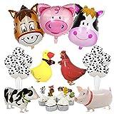 Kreatwow Decoraciones de Animales de Granja Decoraciones de la Fiesta de Corral Primeros de la Magdalena para cumpleaños Baby Shower Suministros para Fiestas en la Granja