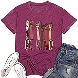 DREAMING-Camiseta de Manga Corta Informal de Primavera y Verano para Mujer, Camiseta Suelta con Estampado de Letras, Cuello Redondo, Manga Corta XL