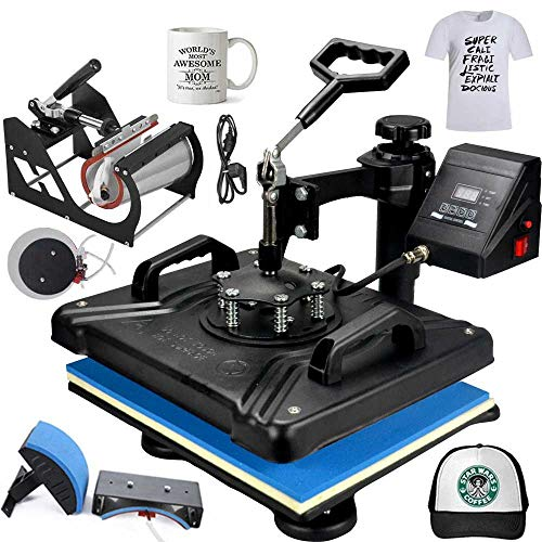 MYSUB 5 in 1 Heat Press Machine Swing Away Heat Press Machine, 12x15 inches Digital Vinyl Transfer, Multipurpose Combo Kit Sublimation Hot Pressing...